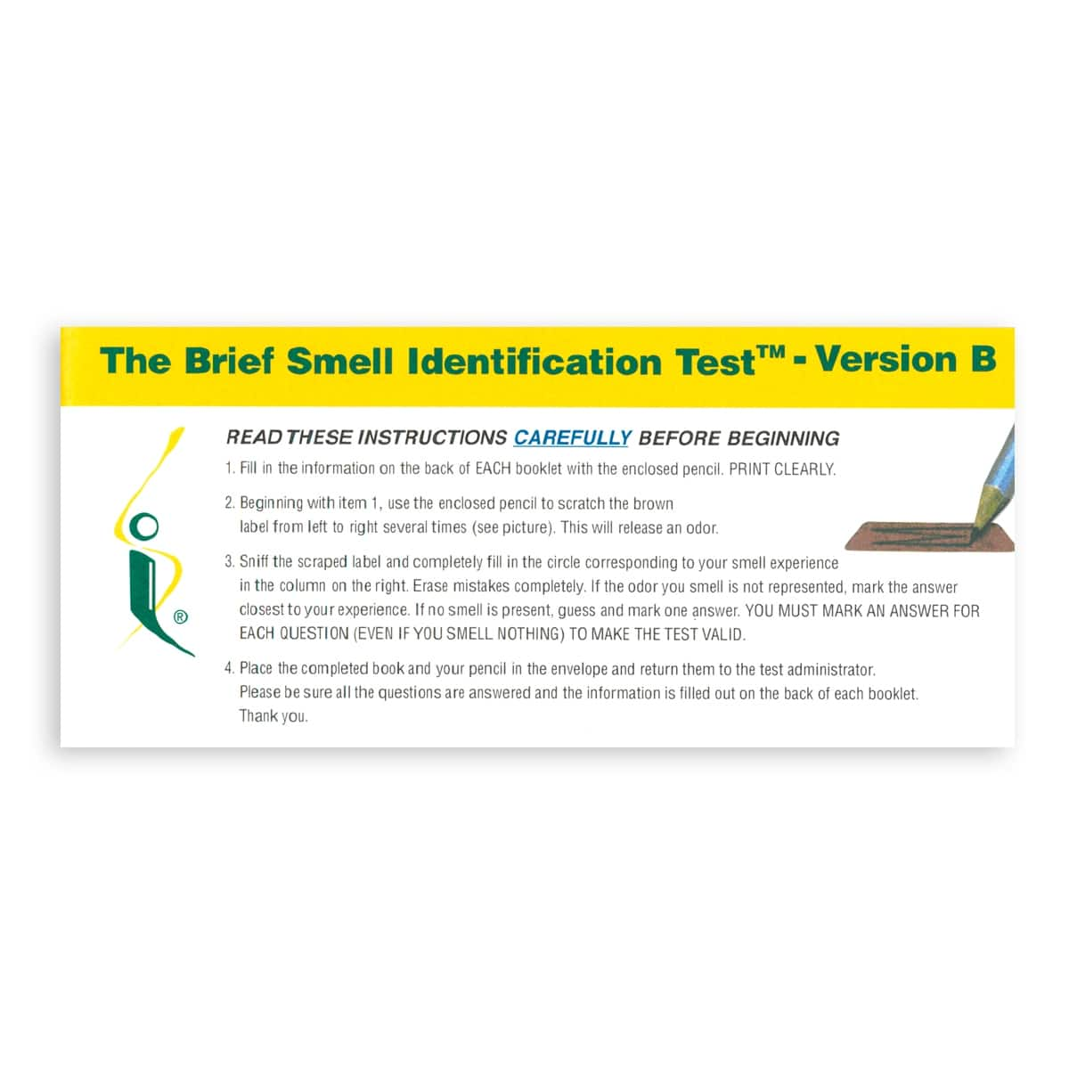 Brief Smell Identification Test Ver B Image